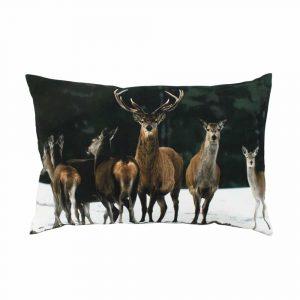 Decorative Cushion Canvas Herd of Deer (60 x 40 cm)