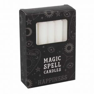 Magic Spell Candles Happiness (White - 12 pieces)