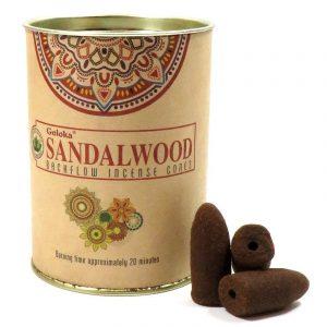 Goloka Backflow Incense cones Sandalwood