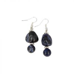 Gemstones Earrings Sodalite in Box
