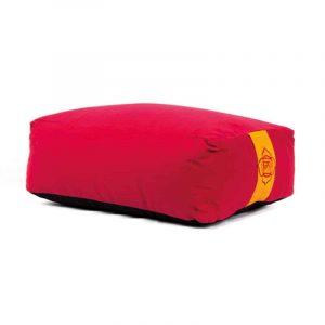 Yogi and Yogini Meditation Cushion Rectangular Cotton Red - 1st Chakra - 38 x 28 x 15 cm