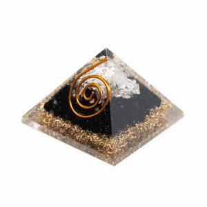 Orgonite Pyramid Mini Black Tourmaline & Rock Crystal (25 mm)