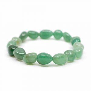 Gemstone Bracelet Green Aventurine Tumbled Stones