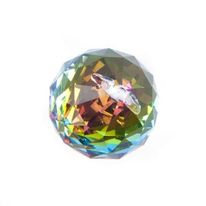 Rainbow Crystal Bol Multicolor Aaa Quality (4 Cm)
