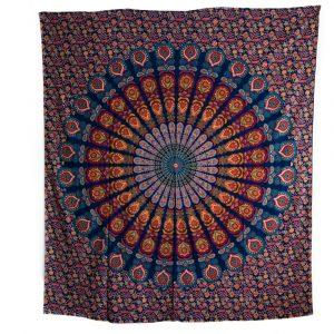Tapestry Mandala Cotton Blue Authentic (240 x 210 cm)