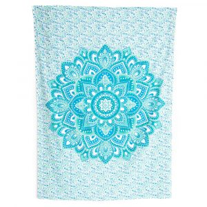 Tapestry Mandala Cotton Blue Authentic (215 x 135 cm)
