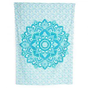 Tapestry Mandala Cotton Blue Authentic (215 x 135 cm)