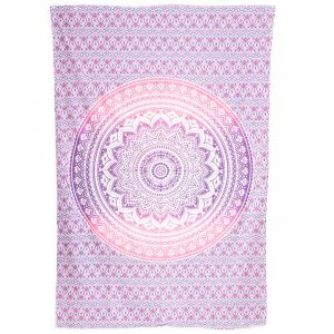 Tapestry Mandala Cotton Purple/Pink Authentic (215 x 135 cm)