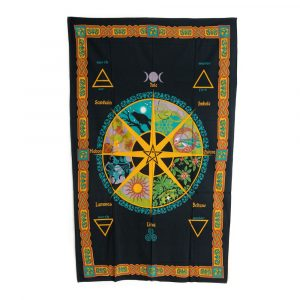 Tapestry Spiritual Cotton with Celtic Calendar Authentic (215 x 135 cm)