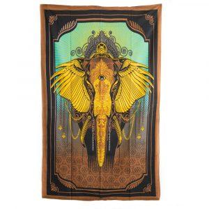 Tapestry Elephant Cotton Authentic (215 x 135 cm)