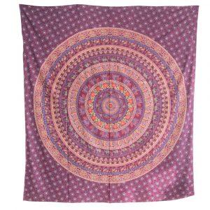 Tapestry Mandala Cotton Purple Animal Empire Authentic (240 x 210 cm)
