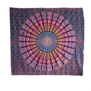 Tapestry Mandala Cotton Purple Authentic (240 x 210 cm)