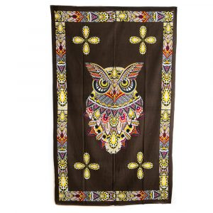 Owl Tapestry Cotton Authentic (215 x 135 cm)