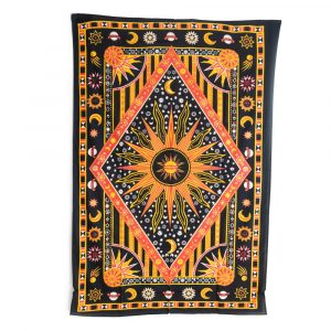 Tapestry Spiritual Cotton with Sun & Moon Authentic (215x135cm)
