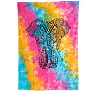 Tapestry Elephant Cotton Colourful Authentic (215x135cm)