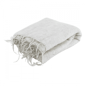 Meditation Poncho XL - White - Gray