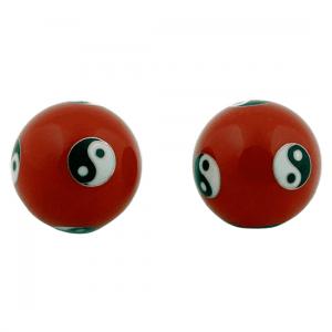 Meridian Balls Yin Yang Red (4 Cm)