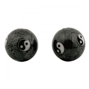 Meridian Balls Yin Yang Tai Chi Grey (3.5 Cm)