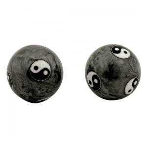 Meridian Balls Yin Yang Tai Chi Grey (4 Cm)