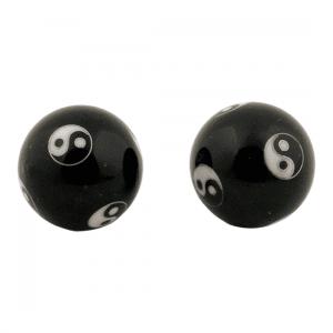 Meridian Balls Yin Yang Black - 3.5 Cm - Model 2