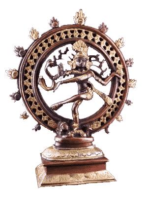 Shiva Nataraj Brass Two-colour - 20 Cm - Model 2