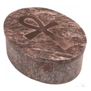 Ornamental Box Ankh Soapstone Assorti Oval