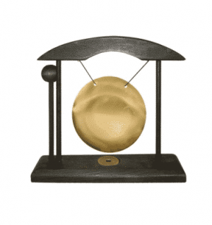 Table Gong Small Black And Gold