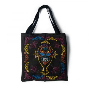 Tote Bag Cotton - Skull with Headphones (45 cm)