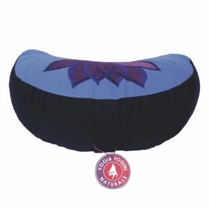 Meditation Pillow Half Moon Lotus (violet-blue)