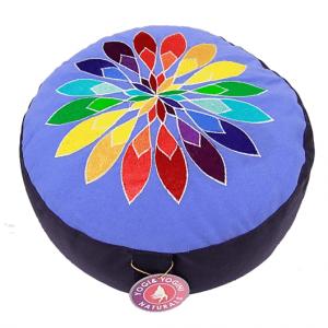 Meditation Cushion Flower (blue)