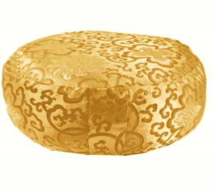 Meditation Cushion Lotus Gold