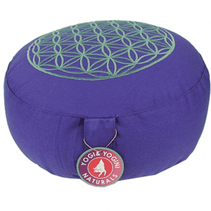 Meditation Cushion Lifebloom Purple-silver