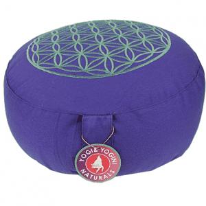 Meditation Cushion Lifebloom Purple-silver