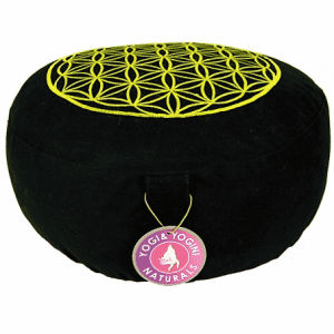 Meditation Cushion Lifebloom Black Gold