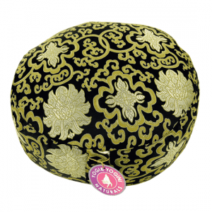 Meditation Pillow Pattern Lotus Black