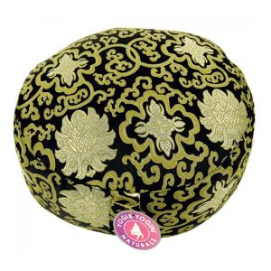 Meditation Pillow Pattern Lotus Black