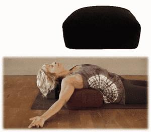 Meditation Pillow-Bolster Black Rectangular