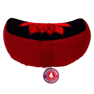 Meditation Cushion Moon Lotus (Black And Red)