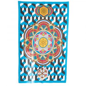 Tapestry Mandala Cotton Geometric Shapes Authentic (215 x 135 cm)