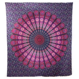 Tapestry Mandala Cotton Red/Purple Authentic (240 x 210 cm)