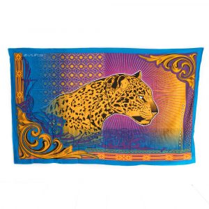 Tapestry Spiritual Cotton with Panther Authentic (215 x 135 cm)