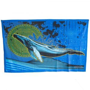 Tapestry Spiritual Cotton Flying Whale Authentic (215 x 135 cm)