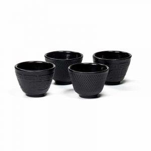 Japanese Style Tetsubin Cast Iron Teacup (Set of 4)