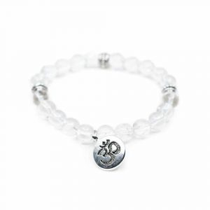 Gemstone Bracelet Rock Crystal with OHM