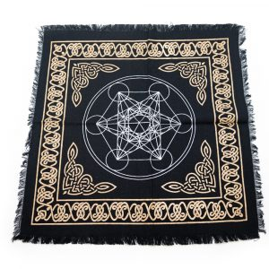 Tapestry Spiritual Cotton Gold and Silver Altar cloth Metatron (45 x 45 cm)