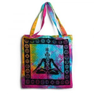 Tote Bag Cotton - 7 Chakra Meditation Colorful (45 cm)