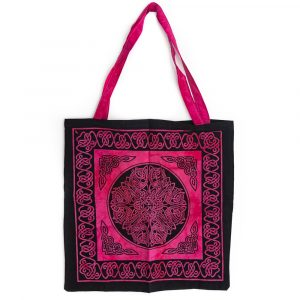Tote Bag Cotton - Pink and Black (45 cm)