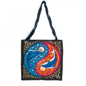 Tote Bag Cotton - Yin Yang Dolphins (45 cm)