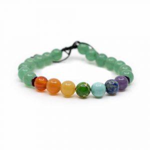 7 Chakra Gemstones Green Aventurine Bracelet