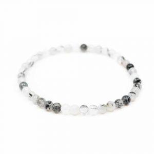 Gemstone Bracelet Rutile Quartz White